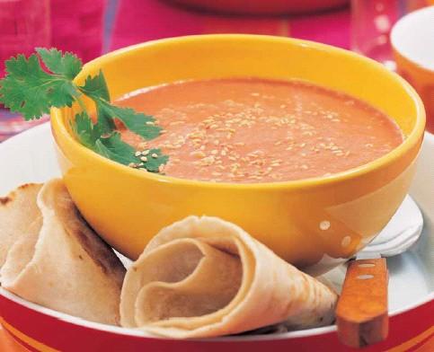 Суп из помидорок (Polévka z rajských jablíček)