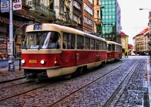 Пражский трамвай №22 - megatour.cz