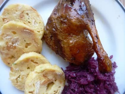 Roasted duck with czech dumplings
